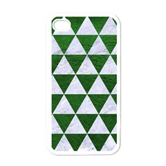 Triangle3 White Marble & Green Leather Apple Iphone 4 Case (white)