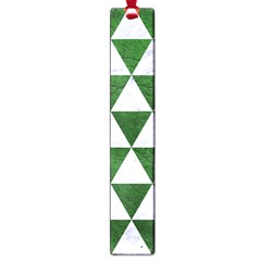 Triangle3 White Marble & Green Leather Large Book Marks