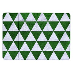 Triangle3 White Marble & Green Leather Samsung Galaxy Tab 8 9  P7300 Flip Case