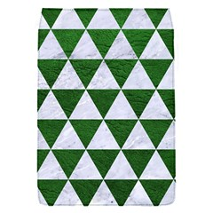 Triangle3 White Marble & Green Leather Flap Covers (s)