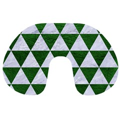 Triangle3 White Marble & Green Leather Travel Neck Pillows