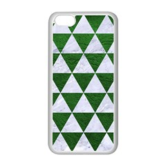 Triangle3 White Marble & Green Leather Apple Iphone 5c Seamless Case (white)