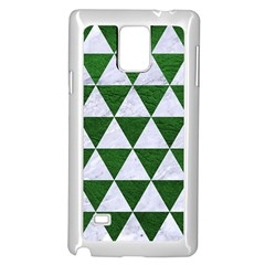 Triangle3 White Marble & Green Leather Samsung Galaxy Note 4 Case (white)
