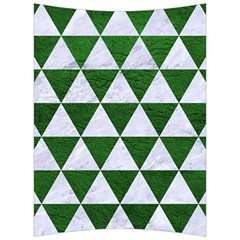 Triangle3 White Marble & Green Leather Back Support Cushion