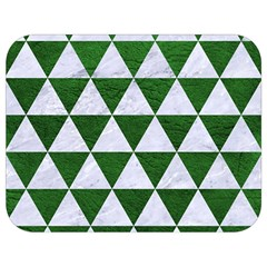 Triangle3 White Marble & Green Leather Full Print Lunch Bag