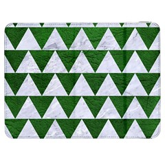 Triangle2 White Marble & Green Leather Samsung Galaxy Tab 7  P1000 Flip Case