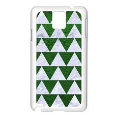 Triangle2 White Marble & Green Leather Samsung Galaxy Note 3 N9005 Case (white)