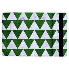 Triangle2 White Marble & Green Leather Ipad Air Flip