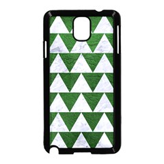 Triangle2 White Marble & Green Leather Samsung Galaxy Note 3 Neo Hardshell Case (black)