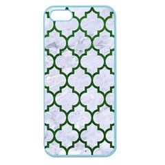 Tile1 (r) White Marble & Green Leather Apple Seamless Iphone 5 Case (color)