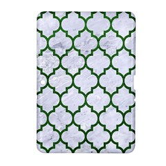 Tile1 (r) White Marble & Green Leather Samsung Galaxy Tab 2 (10 1 ) P5100 Hardshell Case