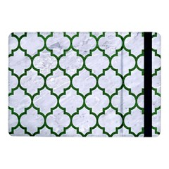 Tile1 (r) White Marble & Green Leather Samsung Galaxy Tab Pro 10 1  Flip Case