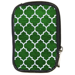 Tile1 White Marble & Green Leather Compact Camera Cases