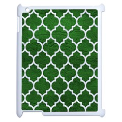 Tile1 White Marble & Green Leather Apple Ipad 2 Case (white)