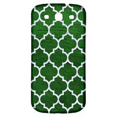 Tile1 White Marble & Green Leather Samsung Galaxy S3 S Iii Classic Hardshell Back Case