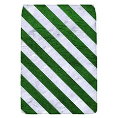 Stripes3 White Marble & Green Leather Flap Covers (s)