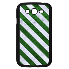 Stripes3 White Marble & Green Leather Samsung Galaxy Grand Duos I9082 Case (black)