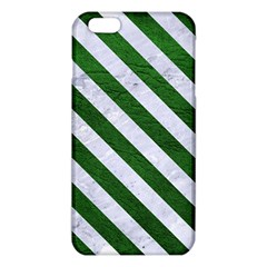 Stripes3 White Marble & Green Leather Iphone 6 Plus/6s Plus Tpu Case