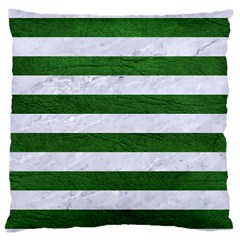 Stripes2 White Marble & Green Leather Standard Flano Cushion Case (one Side)