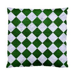 Square2 White Marble & Green Leather Standard Cushion Case (two Sides)