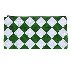 Square2 White Marble & Green Leather Pencil Cases by trendistuff