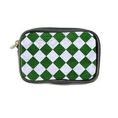 Square2 White Marble & Green Leather Coin Purse