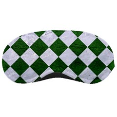 Square2 White Marble & Green Leather Sleeping Masks