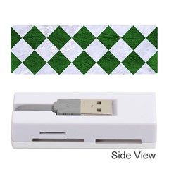 Square2 White Marble & Green Leather Memory Card Reader (stick)