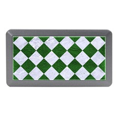 Square2 White Marble & Green Leather Memory Card Reader (mini)