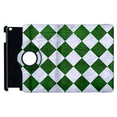 Square2 White Marble & Green Leather Apple Ipad 2 Flip 360 Case