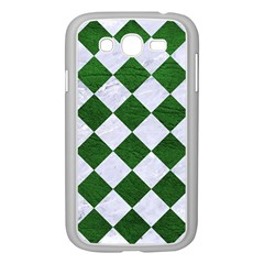 Square2 White Marble & Green Leather Samsung Galaxy Grand Duos I9082 Case (white)