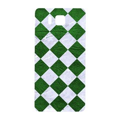 Square2 White Marble & Green Leather Samsung Galaxy Alpha Hardshell Back Case