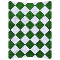 Square2 White Marble & Green Leather Back Support Cushion