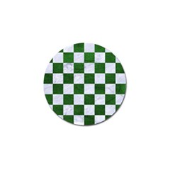 Square1 White Marble & Green Leather Golf Ball Marker (10 Pack)