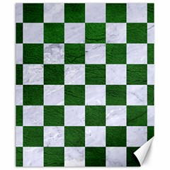 Square1 White Marble & Green Leather Canvas 20  X 24