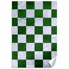 Square1 White Marble & Green Leather Canvas 20  X 30