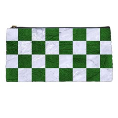 Square1 White Marble & Green Leather Pencil Cases by trendistuff