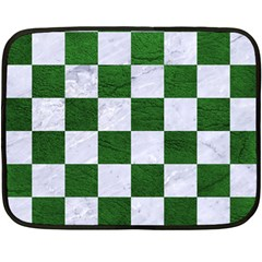 Square1 White Marble & Green Leather Double Sided Fleece Blanket (mini)