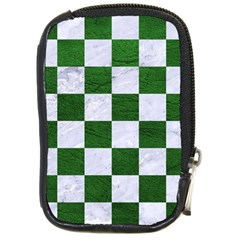 Square1 White Marble & Green Leather Compact Camera Cases