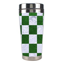 Square1 White Marble & Green Leather Stainless Steel Travel Tumblers