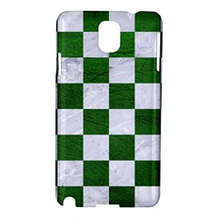 Square1 White Marble & Green Leather Samsung Galaxy Note 3 N9005 Hardshell Case