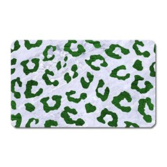 Skin5 White Marble & Green Leather Magnet (rectangular)