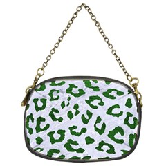 Skin5 White Marble & Green Leather Chain Purses (two Sides)