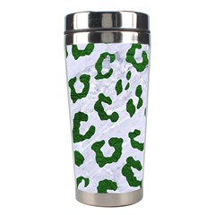 Skin5 White Marble & Green Leather Stainless Steel Travel Tumblers