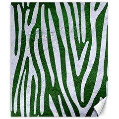 Skin4 White Marble & Green Leather (r) Canvas 20  X 24