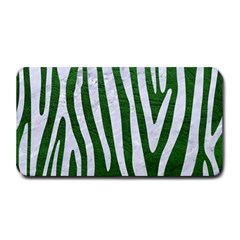 Skin4 White Marble & Green Leather (r) Medium Bar Mats