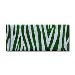 Skin4 White Marble & Green Leather (r) Hand Towel