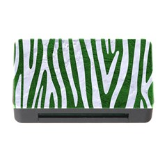 Skin4 White Marble & Green Leather (r) Memory Card Reader With Cf
