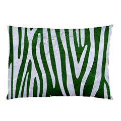 Skin4 White Marble & Green Leather (r) Pillow Case (two Sides)