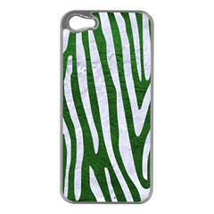 Skin4 White Marble & Green Leather (r) Apple Iphone 5 Case (silver)